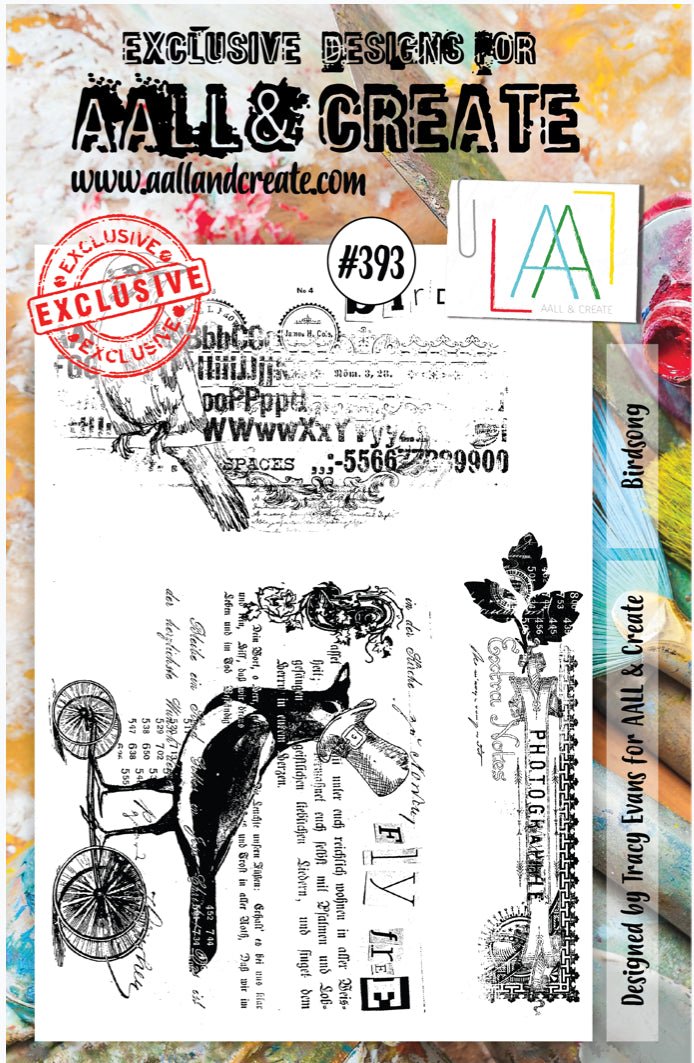 AALL & Create - A5 Clear Stamp Set Designed by Tracy Evans - Birdsong #393