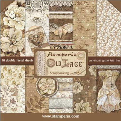 "Stamperia Old Lace Scrapbooking 12""x 12"" Paper Pad"