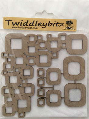 Twiddleybitz Retro Corner Set Square 2 Pieces