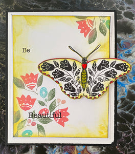 Art Inspirations by Wensdi Made A5 Clear Stamps - Butterfly Medley - 10 Stamps