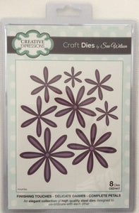 Creative Expressions Craft Dies by Sue Wilson Finishing Touches Delicate Daisies - Complete Petals 8 Dies