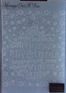 Couture Creations Embossing Folder - Christmas Collection: Message in a Tree