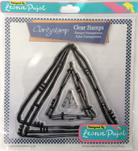 Clarity Stamp Unmounted Clear Stamp Set of 3 Designed by Leonie Pujol-Nested Triangle Scribbles