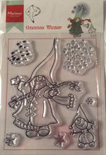 Hetty's Gnomes by Marianne Design Clear Stamp Set - Gnomes Winter - 7 Stamps