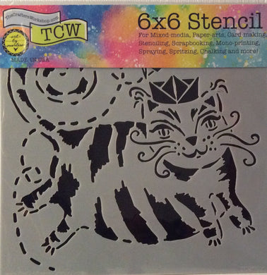 "TCW Arts by Marlene Designs - Stencils - Mini Flying Cat 6""x 6"""
