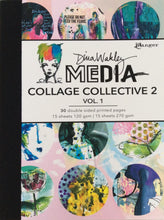 Ranger Dina Wakley Media Collage Paper Collective 2 - Vol 1 Book