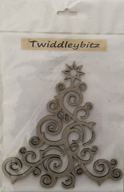 Twiddleybitz Large Curly Christmas Tree