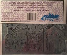 Creative Expressions Designed by Sam Poole - Art Houses Rubber Stamp A5