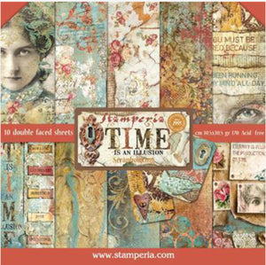 "Stamperia Time is an Illusion Scrapbooking 12"" x 12"" Paper Pad"