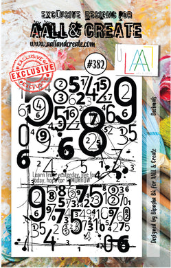 AALL & Create - A7 Clear Stamp Set Designed by Bipasha Bk - Decimals #382