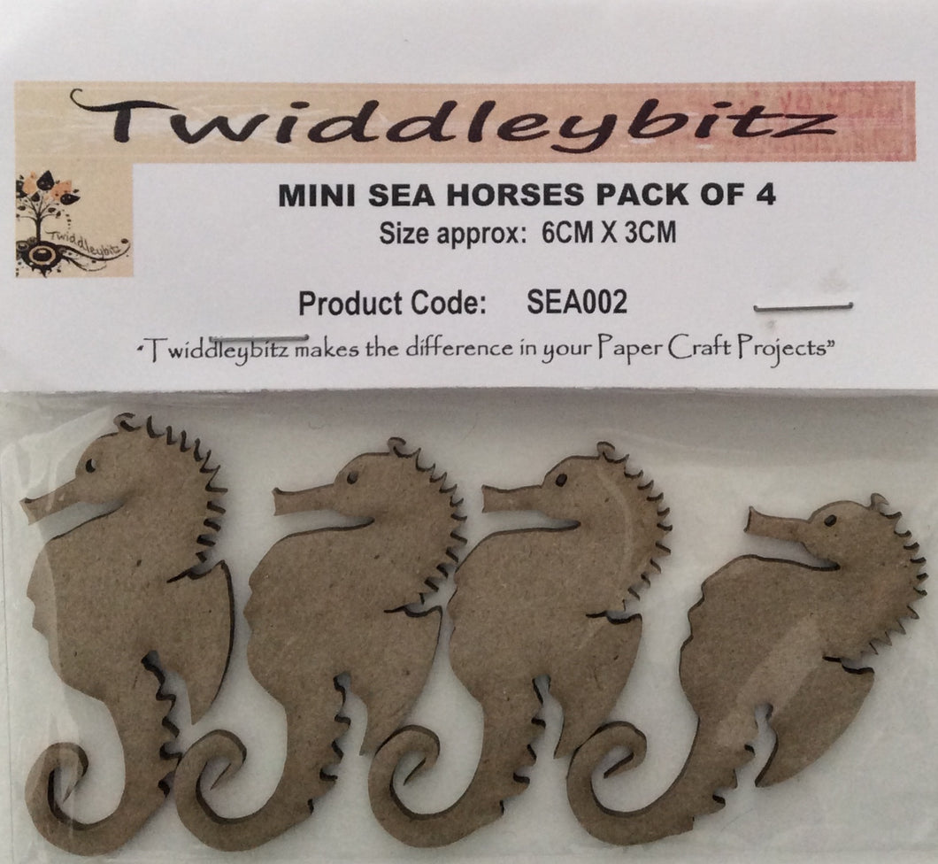 Twiddleybitz Mini Seahorses Pack of 4