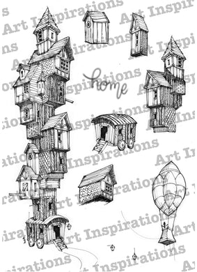 Art Inspirations with Brejanzart A5 Stamp Set - No Place Like Home - 10 Stamps
