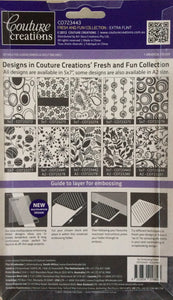 Couture Creations Embossing Folder - Fresh and Fun Collection: Extra Flint