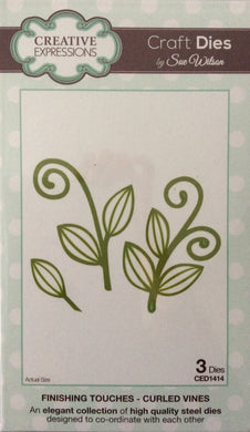 Creative Expressions Craft Dies by Sue Wilson Finishing Touches - Curled Vines 3 Dies