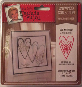"Leonie Pujol Entwined Collection Folk Heart Base - 2.7"" x 4.2"""