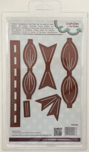 Creative Expressions Craft Dies by Sue Wilson Finishing Touches - Classic 3D Bow - Set of 6 Dies