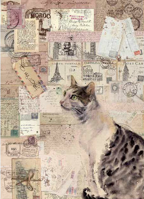 Stamperia - Cat Decoupage - Rice Paper A4