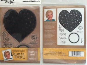 Crafters Companion Photopolymer Stamp Set Designed by Leonie Pujol A6 - From The Heart