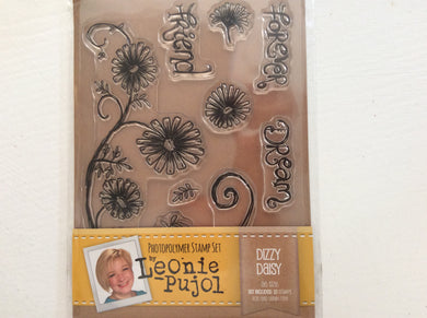 SALE Crafters Companion Photopolymer Stamp Set Designed by Leonie Pujol A6 - Dizzy Daisy
