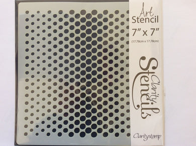 "Clarity Art Stencils Dotty Wave -  7""x 7"""