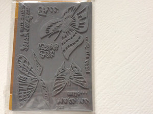 Crafters Companion Rubber Stamp Set Designed by Leonie Pujol A6 - Flight to Freedom