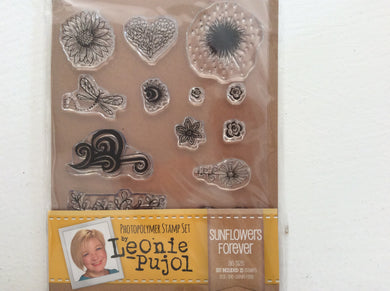 Crafters Companion Photopolymer Stamp Set Designed by Leonie Pujol A6 - Sunflowers Forever