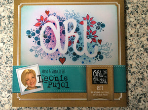 SALE Crafters Companion Mask & Stencil Set by Leonie Pujol - Art