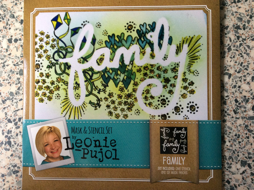 SALE Crafters Companion Mask & Stencil Set by Leonie Pujol - Family