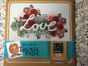 Crafters Companion Mask & Stencil Set by Leonie Pujol - Love