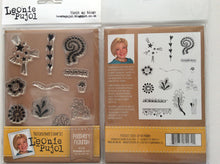 SALE Crafters Companion Photopolymer Stamp Set Designed by Leonie Pujol A6 - Feathery Flourish
