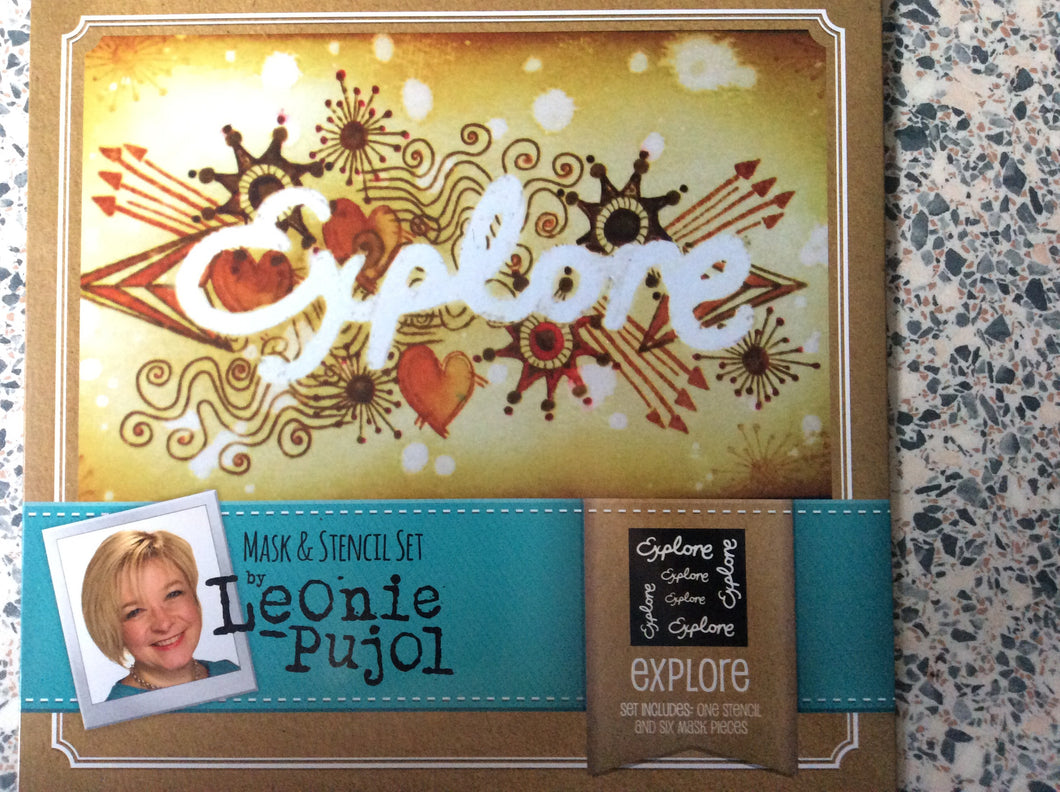 Crafters Companion Mask & Stencil Set by Leonie Pujol - Explore