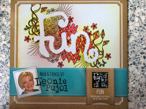 SALE Crafters Companion Mask & Stencil Set by Leonie Pujol - Fun