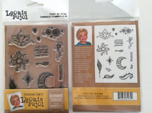 SALE Crafters Companion Photopolymer Stamp Set Designed by Leonie Pujol A6 - Bohemian Doodles