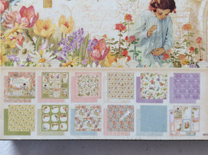 "Graphic 45 Secret Garden Collection 8"" x 8"" Double Sided Designs - 12 Sheets"