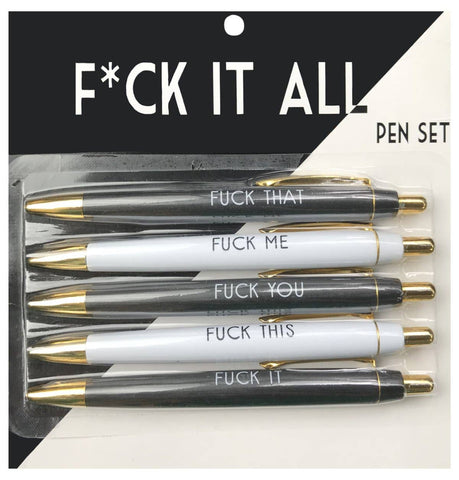 FUN CLUB - Fuck It All Pen Set - sanitystyle