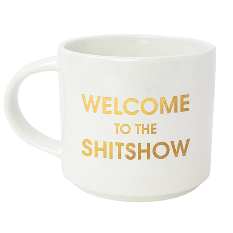 WELCOME TO THE SHITSHOW METALLIC GOLD MUG - sanitystyle