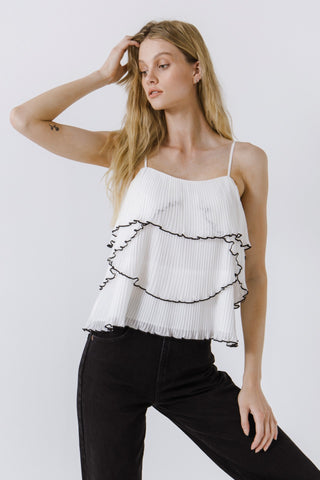 Bali Tiered Ruffle Cami Top PREORDER