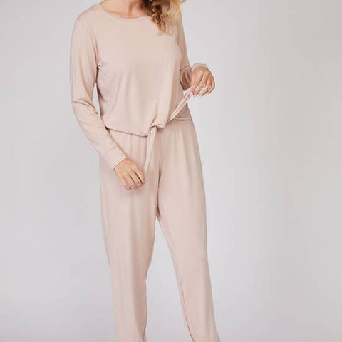 Luxe Bamboo Long Sleeve 2PCS Pajama Set - Rose