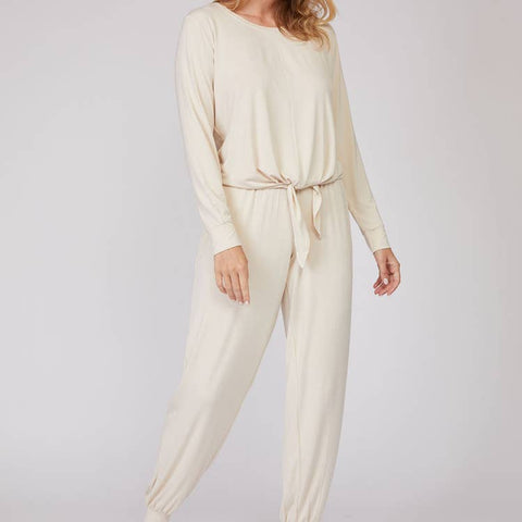 Luxe Bamboo Long Sleeve 2PCS Pajama Set - Cream