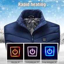 Load image into Gallery viewer, Heating Vest Washable Usb Charging Heating Warm Vest  Control Temperature Outdoor Camping Hiking Golf (Without Battery)