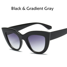 Load image into Gallery viewer, Cat Eye Women Sunglasses Tinted Color Lens Men Vintage Shaped Sun Glasses Female Eyewear Blue Sunglasses