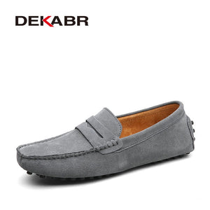 Moccasins Men Loafers High Quality Genuine Leather Shoes Men Flats Lightweight Driving Shoes