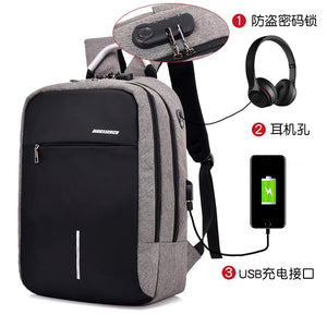 women USB Backpack laptop bag anti-theft computer bag