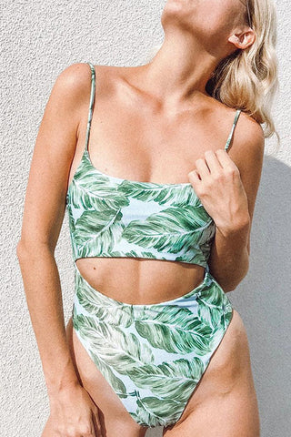 Seastylish Printed High Waist Two-piece Swimsuit