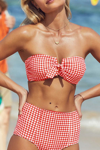 Seastylish Spaghetti Strap Padded Cross Woven Bikini Set