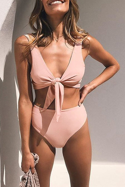 Seastylish Tie Knot Front Bikini Swimsuits
