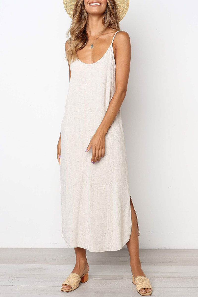 Seastylish Spaghetti Strap Sleeveless Dress