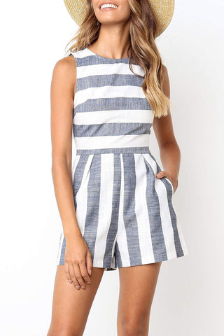 Seastylish Striped Blue Two-piece Swimsuit