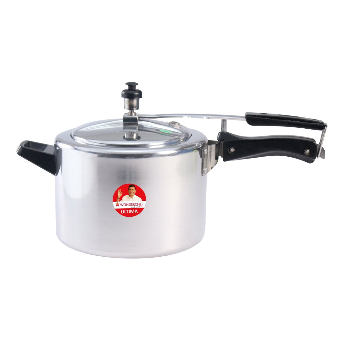 Ultima Induction Base Aluminium Pressure Cooker With Inner Lid 5L