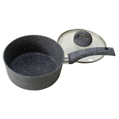 Wonderchef Granite Sauce Pan With Lid 18 Cm